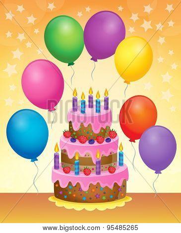 Birthday cake theme image 6 - eps10 vector illustration.