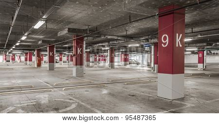 Underground garage - parking lot in a basement