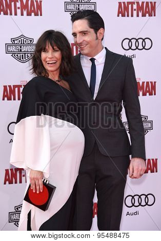 LOS ANGELES - JUN 29:  Evangeline Lilly & David Dastmalchian arrives to the