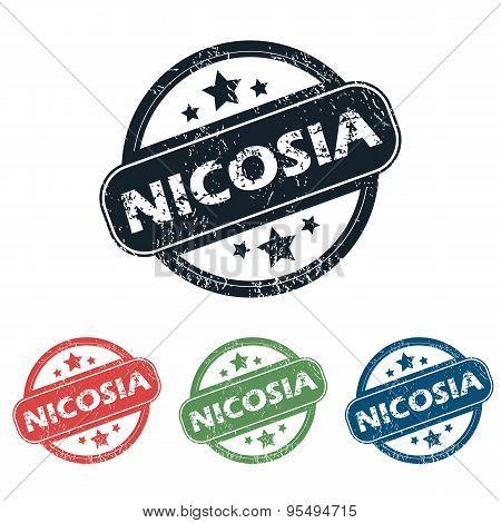 Round Nicosia city stamp set