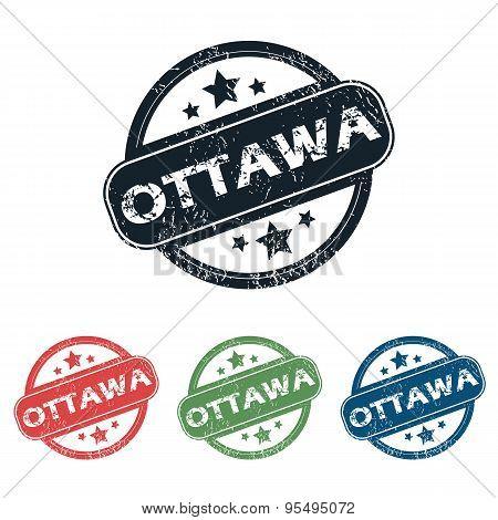 Round Ottawa city stamp set