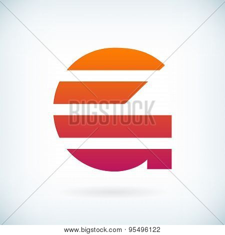 Stripes Letter G Icon Design Element Template