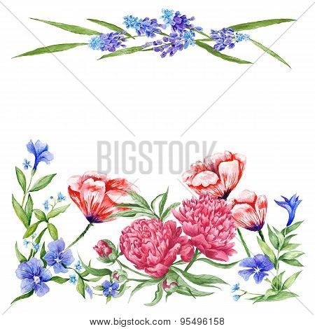 Summer Floral Card Template
