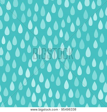 Rain. Seamless vector pattern background.
