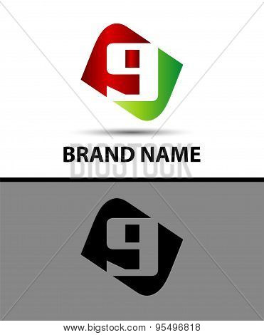 Number nine logo.Logo 9
