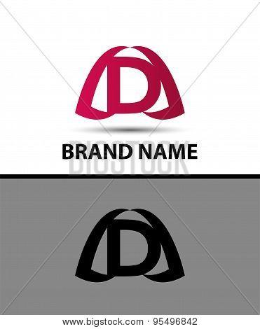 Letter d logo. Alphabet logotype vector design