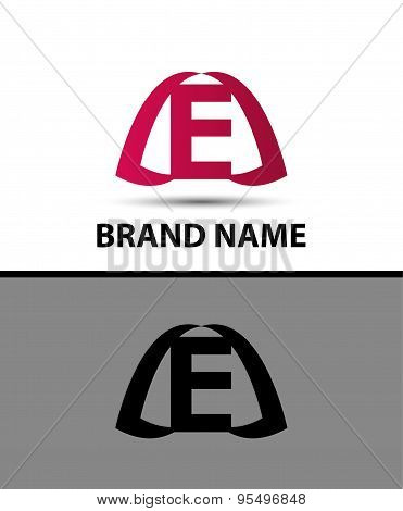 Letter e logo. Alphabet logotype vector design