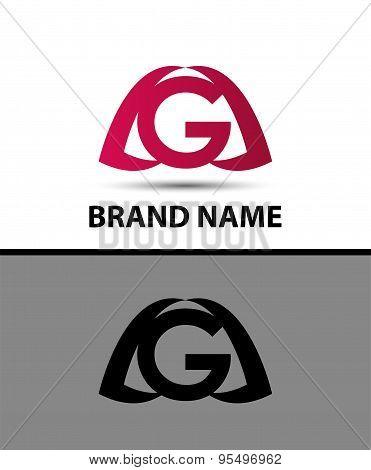 Letter g logo. Alphabet logotype vector design