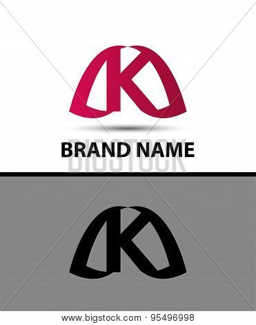 Logo k letter Vector illustration design template