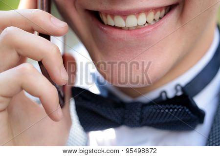 Beautiful Male Opne Mouth Smile