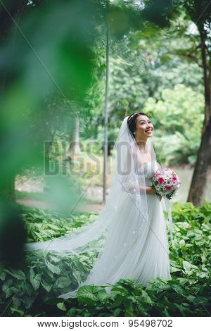 Happy Asian Bride