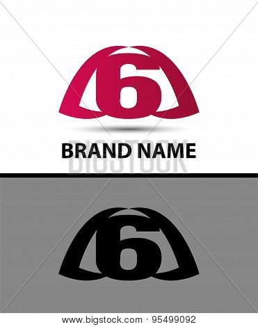 6, Number seven logo, symbol, icon