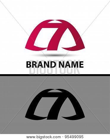 7, Number seven logo, symbol, icon