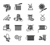 image of sewing  - Hand drawn knitting - JPG