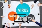 stock photo of spam  - Virus Internet Security Phishing Spam Concept - JPG