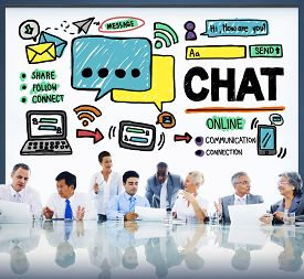 pic of chat  - Chat Chatting Communication Social Media Internet Concept - JPG