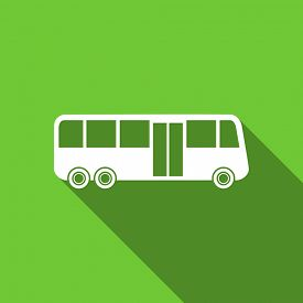 picture of transportation icons  - bus flat icon public transport sign original modern design flat icon for web and mobile app with long shadow  - JPG