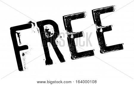 Free stamp. Grunge design with dust scratches. Effects can be easily removed for a clean, crisp look. Color is easily changed.