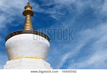 Buddhist stupa in Tashilhunpo monastery, Tibet
