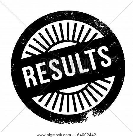 Results stamp. Grunge design with dust scratches. Effects can be easily removed for a clean, crisp look. Color is easily changed.
