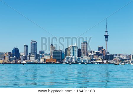 Auckland, New Zealand- NOVEMBER 14, 2008: downtown of Auckland biggest city of New Zealand