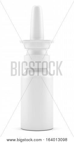 Spray Medical Nasal Drugs Plastic Bottle. 3D illustration