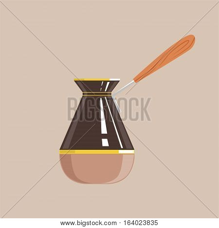 Coffee Pot Isolated Vector Icon From Set Of Coffee Shop Drinks Assortment Menu Items. Cartoon Sticker With Cafe Breakfast Hot Beverage.