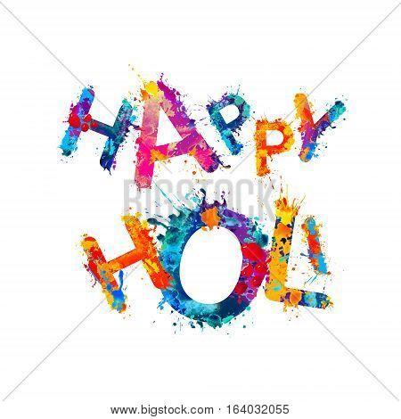 Happy Holi! Rainbow Splash Paint