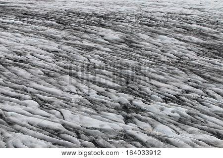 Detail of a Glacier at Vatnajokull in Skaftafell National Park. Iceland