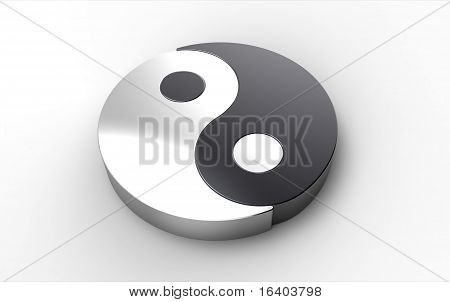 Computer Rendering Of A Yin Yang Symbol