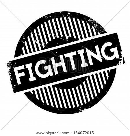 Fighting rubber stamp. Grunge design with dust scratches. Effects can be easily removed for a clean, crisp look. Color is easily changed.