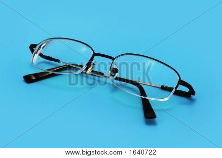 Eyeglasses On Blue