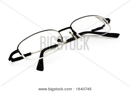 Eyeglasses On White (Include Clipping Path)