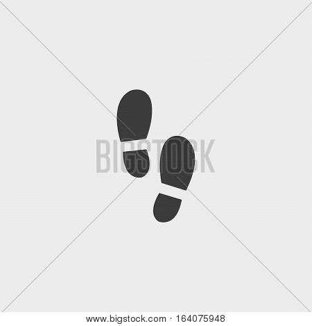Shoes imprint icon in a flat design in black color. Vector illustration eps10