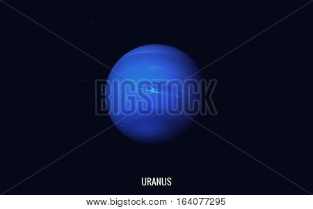 Uranus. Elements of this image furnished by NASA