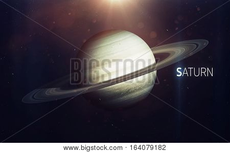 Saturn - High resolution beautiful art presents planet of the solar system. This image elements furnished by NASA