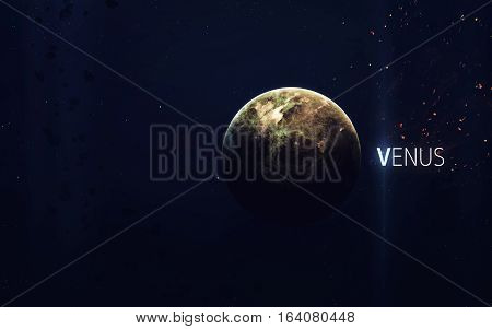 Venus - High resolution beautiful art presents planet of the solar system. This image elements furnished by NASA