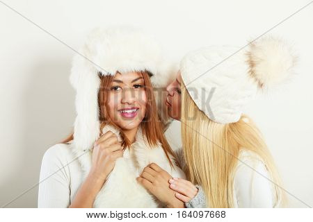 Gossip Rumour Woman Telling Secrets To Your Girlfriend