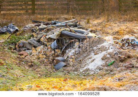Unlegal Dump Near Forest