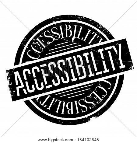 Accessibility rubber stamp. Grunge design with dust scratches. Effects can be easily removed for a clean, crisp look. Color is easily changed.