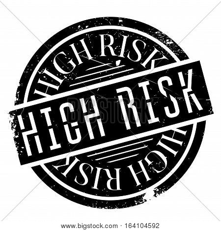 High Risk rubber stamp. Grunge design with dust scratches. Effects can be easily removed for a clean, crisp look. Color is easily changed.