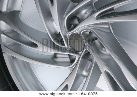 Close up wheel of a spots car