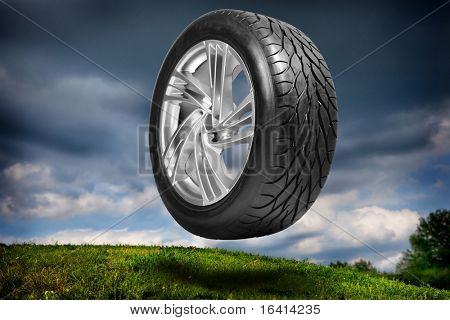 Wheel with steel rim