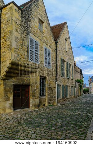 Street With Old Buildings, In Nevers