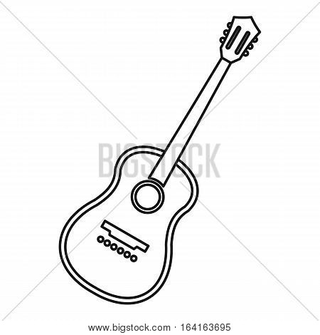 Charango stringed acoustic instrument icon. Outline illustration of charango stringed acoustic instrument vector icon for web