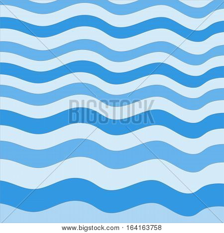 Abstract Design Creativity Background of Blue Waves, Vector Illustration