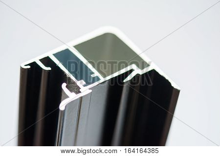 anodized aluminum profile used for a windows and doors locking system