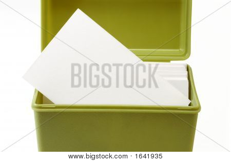 Open Index Card File Box 2