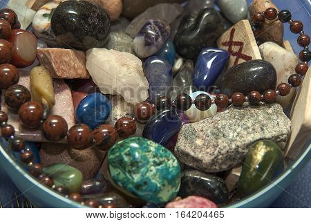 the esoteric and magical gems stones vase