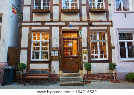 Auction House In A Historical House In Muenster, Germany